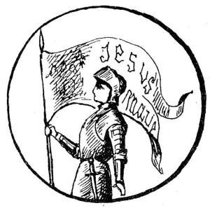 Vignette, Sainte Jeanne d'Arc en armure - récit pour le catéchisme