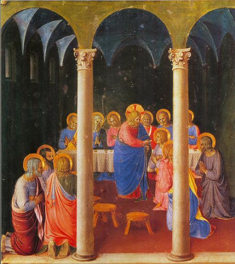 Première communion et communion des malades - La Cène, Fra Angelico, 1452