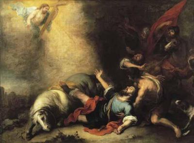 Saul sur le chemin de Damas
