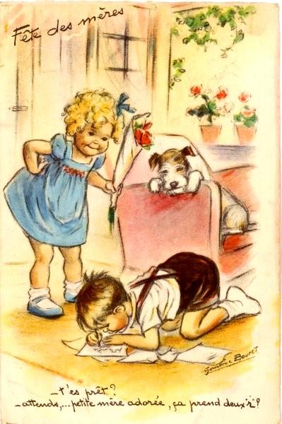 Fête des mères - Carte de Germaine Bouret