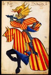 Couleurs des princes d'Aragon - toison d'or