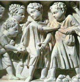 enfants romains - Pages jouant