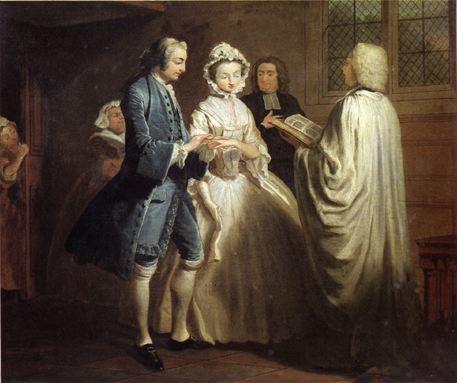 Joseph Highmore, Le Mariage de Pamela , 1743-1744,