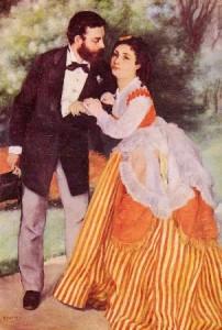 Les fiancés - Oeuvre peinte par Pierre-Auguste Renoir.