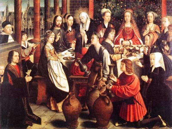 Les noces de Cana par  Gerard David (1500-1510)