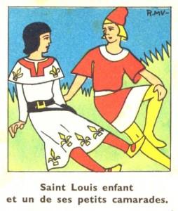 Histoire Saint Louis enfant et ses camarades de jeux