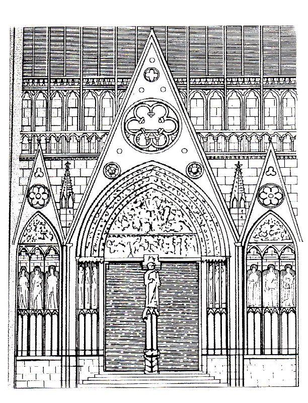 Coloriage Portail Notre Dame De Paris Et Maintenant Une Histoire