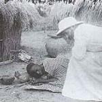 missionnaire et la vielle femme morte
