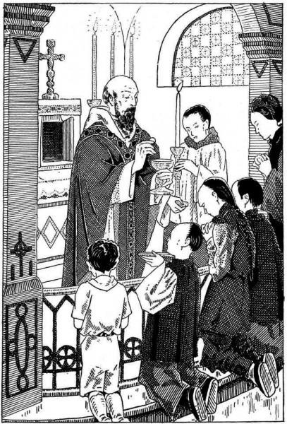 Liturgie pour les enfants : L'Église est une parce qu'elle n'a qu'une même foi.