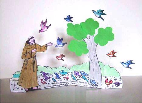 Bricolage pour enfants : Saint François d'Assise Diaporama