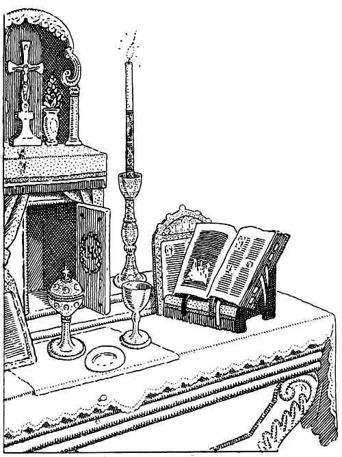 L'autel, c'est la table du Sacrifice.