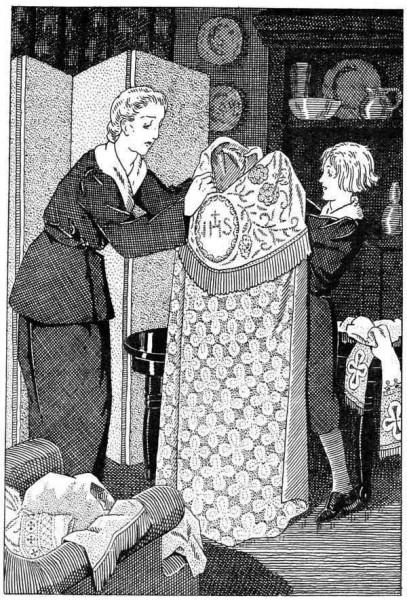 Explication de la liturgie pour les jeunes : Cette chape est écrasante, maman.