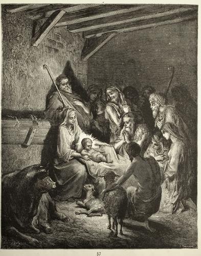 Nativité à Betléem - en présence des bergers