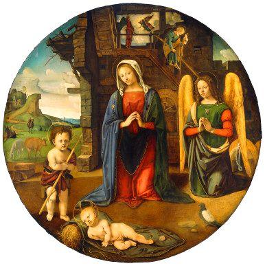 Histoire de Noël pour les enfants - Piero di Cosimo - Nativité et Saint Jean-Baptiste enfant