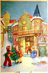 Récit pour Noël - Illuminations de Noël et des enfants