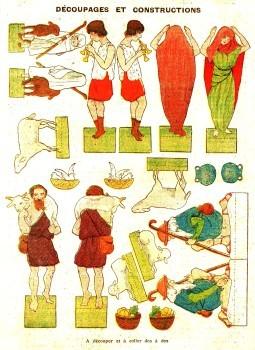 Découpage et collage pour les enfants : Crèche de noel en carton