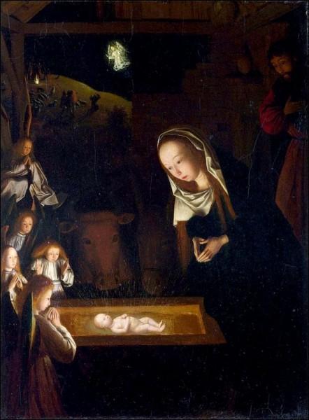 Peinture de la Nativité - Gérard de Saint-Jean