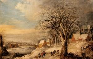 Conte de Noël pour les enfants - paysage d'hiver - Joos de Momper