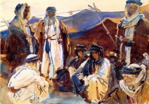 John Singer-Sargent - camp de bédouins dans le désert pour illustrer l'épiphanie
