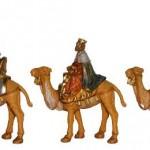 Caravane des rois mages venue d'Orient sur leur chameau