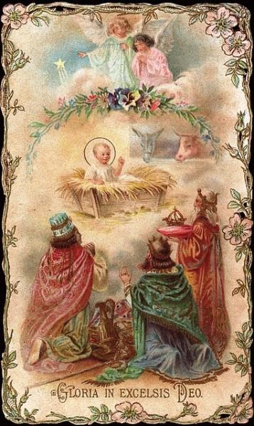 Image de Noël - Rois mage - Gloria in excelsis Deo