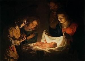 histoire et légende de Noël - La Nativite de Gerrit Van Honthorst