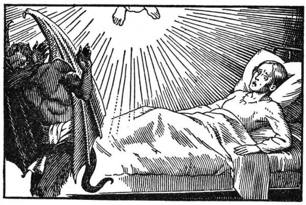 Apparition de Pellevoisin - La Vierge chasse le diable