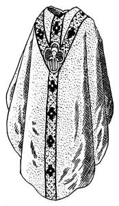 La chasuble : les vêtements liturgiques du prêtre à la messe