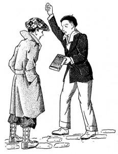 Garçon tenté par un mauvais camarade : livre mauvaise lecture