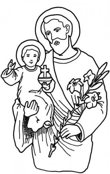 coloriage pour le kt : saint Joseph