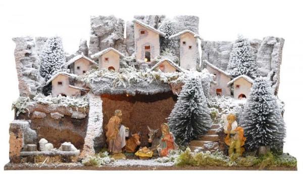 Jalousie et dixième commandemant expliqué aux enfants - crèche sous la neige