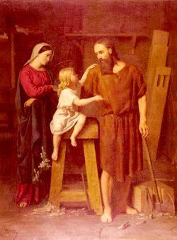 Légende et vie de Jésus : La sainte-Famille - atelier de Saint Joseph