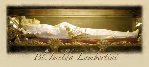 Image pieuse de la bienheureuse Imelda Lambertini, patronne des premiers communiants