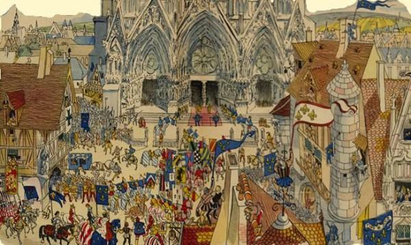 Histoire de Jeanne d'Arc - Jeanne d'Arc et le roi Charles VII à Reims