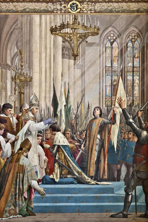 Vie de Sainte Jeanne d'Arc pour les enfants - Sacre du roi Charles VII à Reims