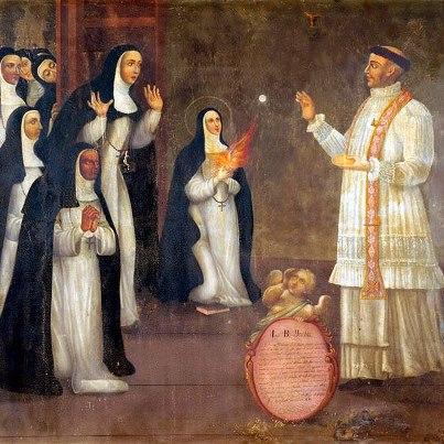 Tableau du miracle de l'hostie - Imelda Lambertini - Bologne