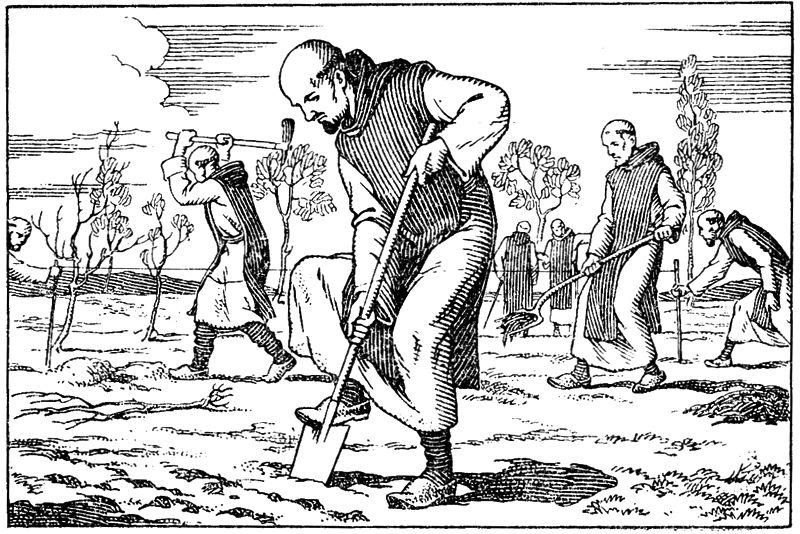 Coloriage de la vie de Charles de Foucauld, trappiste