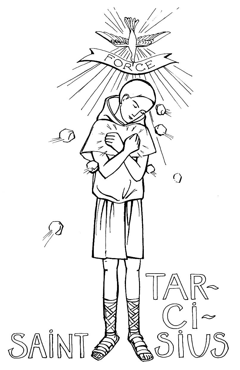 St tarcisius coloring pages