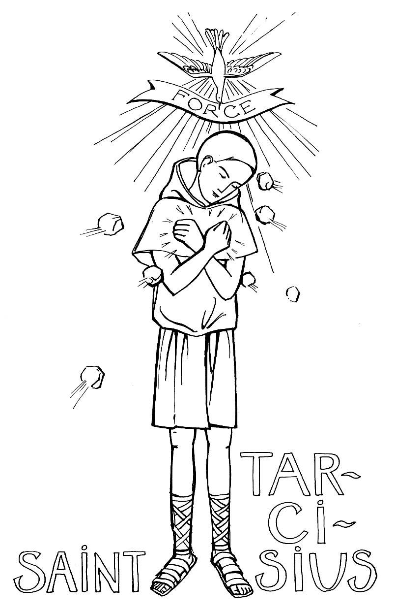coloriage saint Tarcisius