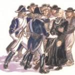 prêtre entouré de révolutionnaires