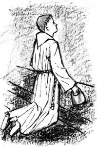 Coloriage - Explications du role du Servant de messe ou servant d'autel