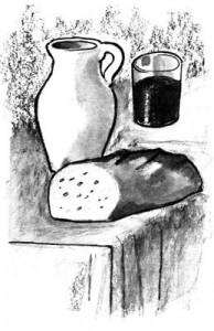 Explication de l'Eucharistie aux jeunes - Le pain et le vin, offert à la messe