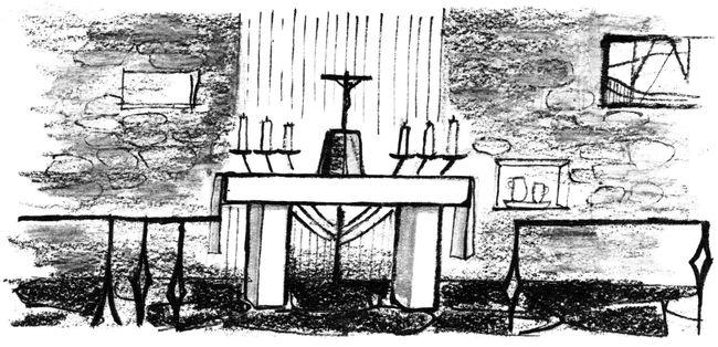 Réflexion sur la messe pour les enfants - l'autel à colorier