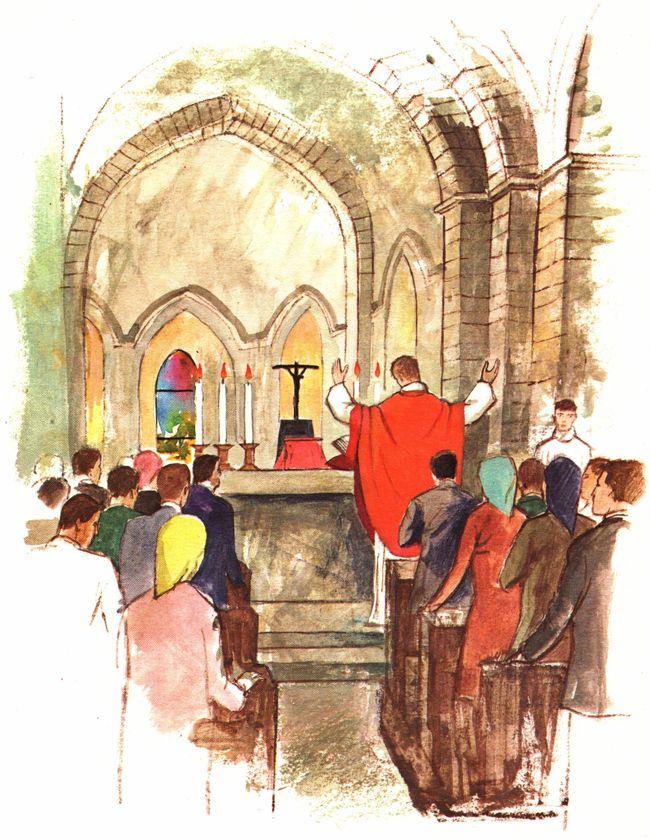 Couleurs litrugiques selon le calendrier liturgique : rouge pour les martyrs