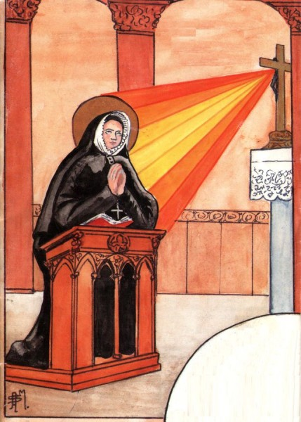 Sainte Madeleine Sophie Barat en prière