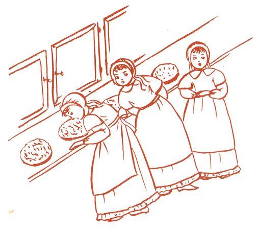 Les petites pensionnaires de Sainte Sophie Barat qui sont gourmandent...