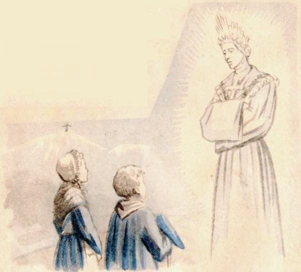 La Sainte Vierge apparait aux enfants à La Salette