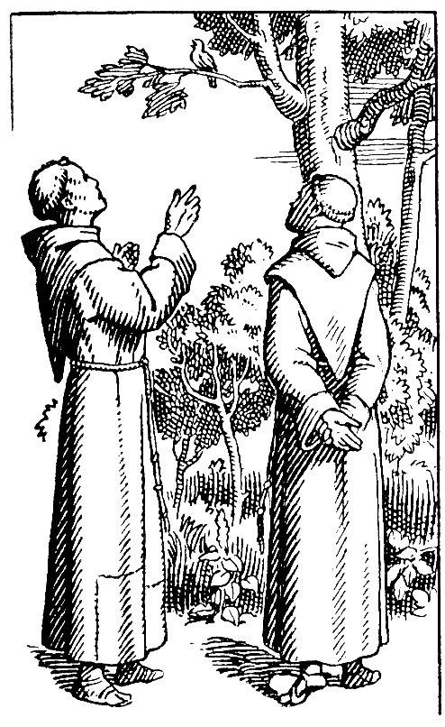 récit de la vie de Saint François - Chant avec le rossignol