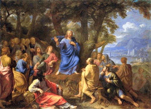Jesus enseignant la foule