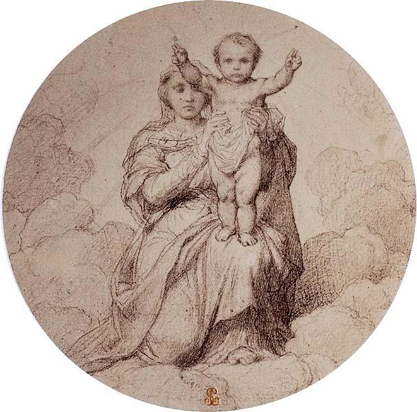 Gravure - Marie nous montrant Jésus Enfant
